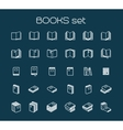 Line art books set vector image vector image