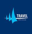 logo yacht vector image vector image