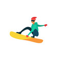 Man snowboarding winter sport activity isolated