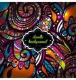 Multicolor Pattern Doodles- Decorative Sketchy vector image