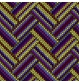 Multicolored Seamless Spring Knitted Pattern Green vector image