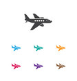 of trip symbol on aircraft vector image vector image