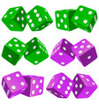 pair of dice icon set vector image vector image