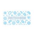 pathogen blue outline banner creative vector image vector image