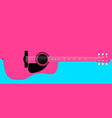pink acoustic guitar background vector image vector image