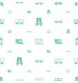 railway icons pattern seamless white background vector image vector image