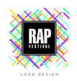 rap festival logo colorful creative banner vector image vector image