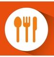 restaurant concept pin map design vector image