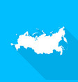 russian federation map with long shadow vector image