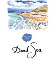 salt formations dead sea israel vector image