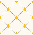 seamless easter pattern with flat eggs vector image