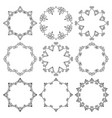 set round frames beautiful floral ornament vector image vector image