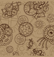 steampunk seamless background with old cobs vector image vector image