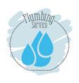 sticker scene of set drop water plumbing service vector image