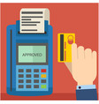 swipe credit card using credit card terminal vector image