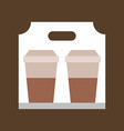 take away coffee coffee related flat style icon vector image vector image