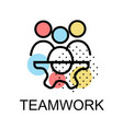 teamwork icon for business on white background vector image vector image