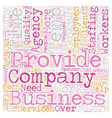 Temp Agency Companies text background wordcloud vector image vector image