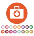 The medicine chest icon Ambulance symbol Flat vector image vector image