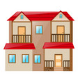 two stories house on white background vector image vector image