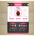 Vintage chalk drawing dessert menu design vector image vector image