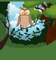 wild in the jungle scene vector image vector image