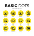 picture flat icons set vector image