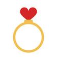 ring heart flat vector image