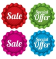 Sale and Special offer price tags set vector image