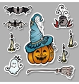 Set of Ornate Halloween Decorations vector image