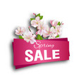 spring sale season discount banner design with vector image