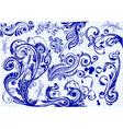 Doodle swirls vector image