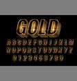 3d golden alphabets set premium letters design vector image