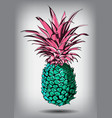a pineapple isolated on a vector image vector image