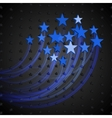 Abstract Background with Blue Stars vector image vector image
