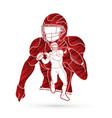 american football player action sport concept vector image vector image