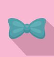 aqua bow tie icon flat style vector image vector image