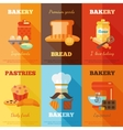 Bakery mini poster set vector image vector image