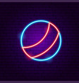 ball toy neon sign vector image vector image