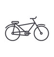 bicycle line icon sign on vector image vector image