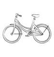 bicycle retro isolated icon vector image
