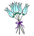 bouquet blue flowers on white background vector image