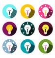 bulb icons set isolated on white background flat vector image