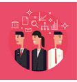 business team flat vector image