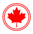 canadian maple red leaf logo symbol sign icon vector image