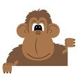 cartoon of a monkey vector image vector image