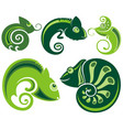 chameleon icons vector image