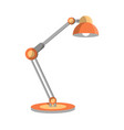 classic desk lamp icon in flat style vector image vector image