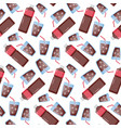 cola seamless pattern vector image vector image