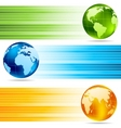 collection banners with globes vector image vector image